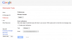 GWT email alerts