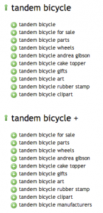 Ubersuggest tandem bicycle